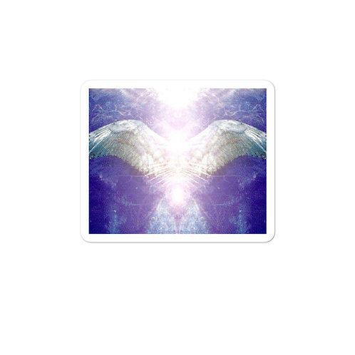 Violet Angel Bubble-free stickers