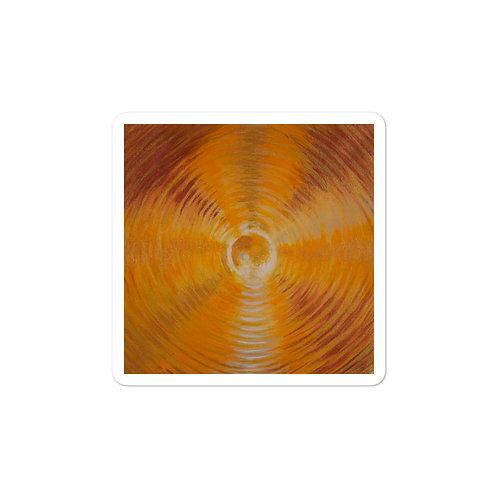 Golden Orcha  Vortex Bubble-free stickers
