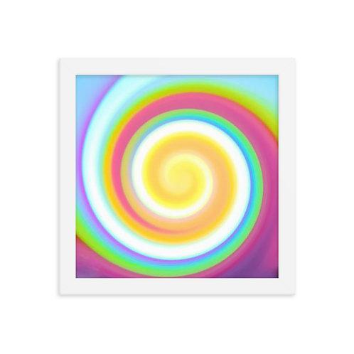 Candy Spiral Framed poster