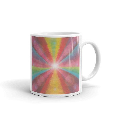 Rainbow Light Code glossy mug