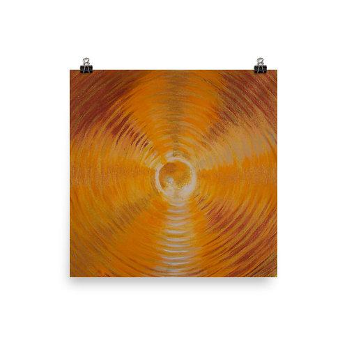 Golden Orcha Vortex Poster
