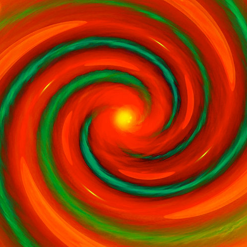 Orange & Green Spiral