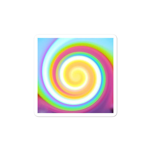 Candy Spiral Bubble-free stickers