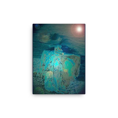 Shadows at The Sea Shore Canvas