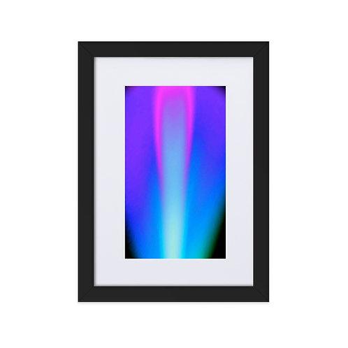 Pink Violet Light Spectrum Matte Paper Framed Poster With Mat