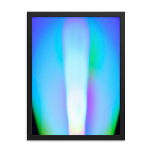 Violet Light Spectrum Framed poster