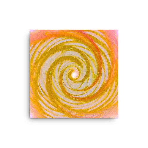 Golden Angel Wing Vortex Canvas