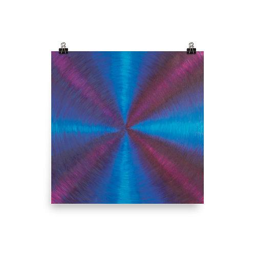 Purple Cross Vortex Poster