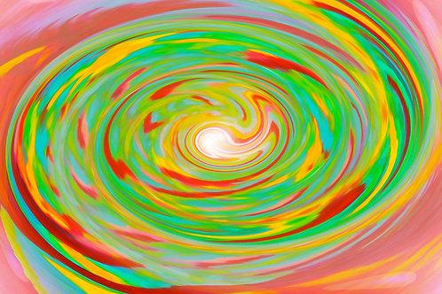 Lrg Green Earth Spiral