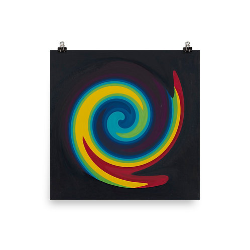 Primary Swirl Poster