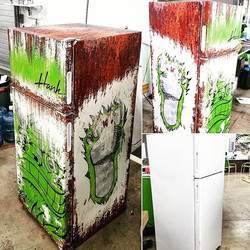 Wrapped the shop fridge today