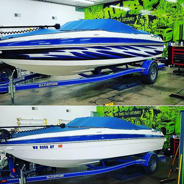 Before and After boat wrap