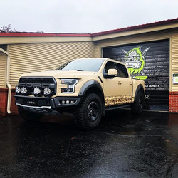 Completed #fordraptor #vinylwrap using #
