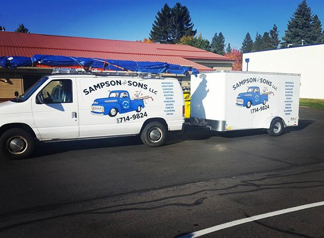 Fleet graphics for Sampson and Sons General Contractors