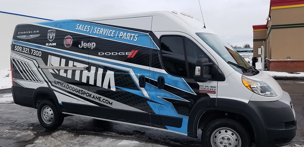 Lithia Dodge Advertising Wrap
