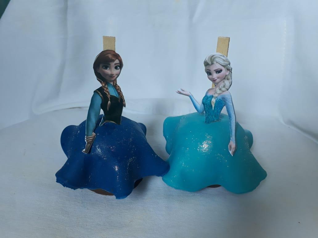 Maças decoradas tema Frozen