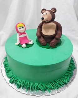 Bolo de chantilly Masha e o Urso
