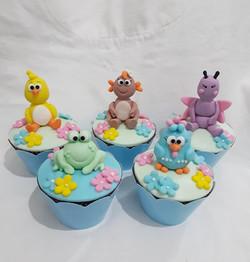 Cupcake 3D galinha pintadinha