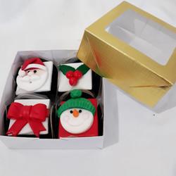 Mini pão de mel natalino