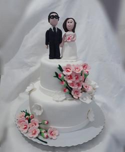 Bolo de pasta americana, casamento