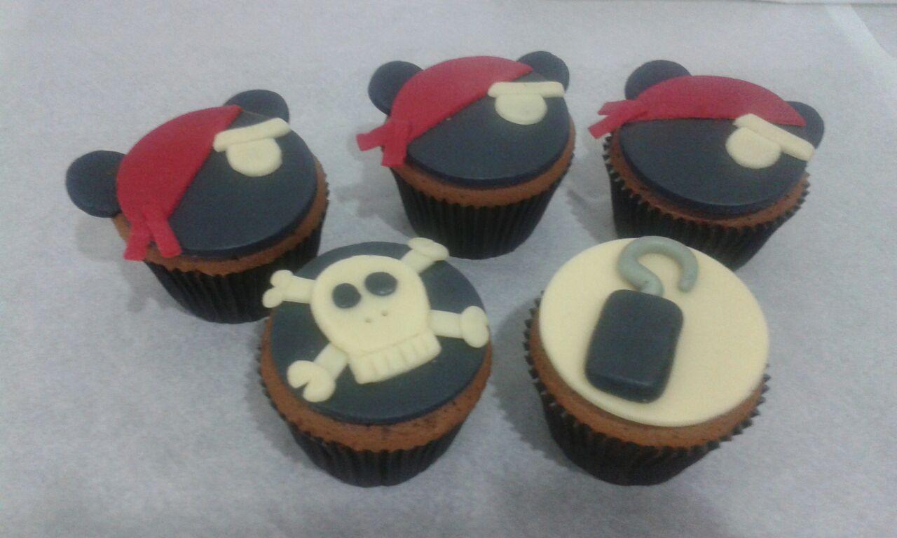 Cupcake Mickey Pirata