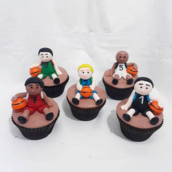 Cupcake 3D basquete