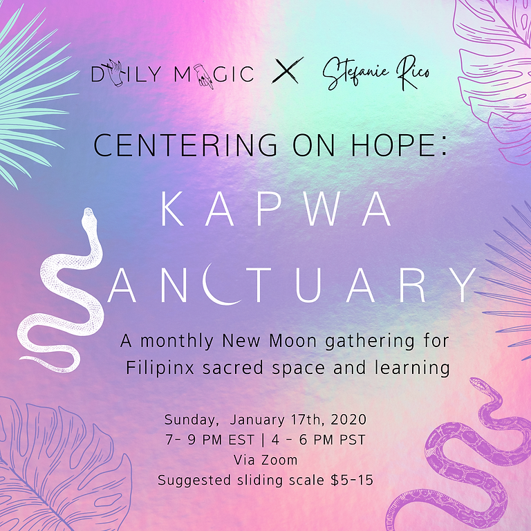 KAPWA SANCTUARY: Centering on Hope | January
