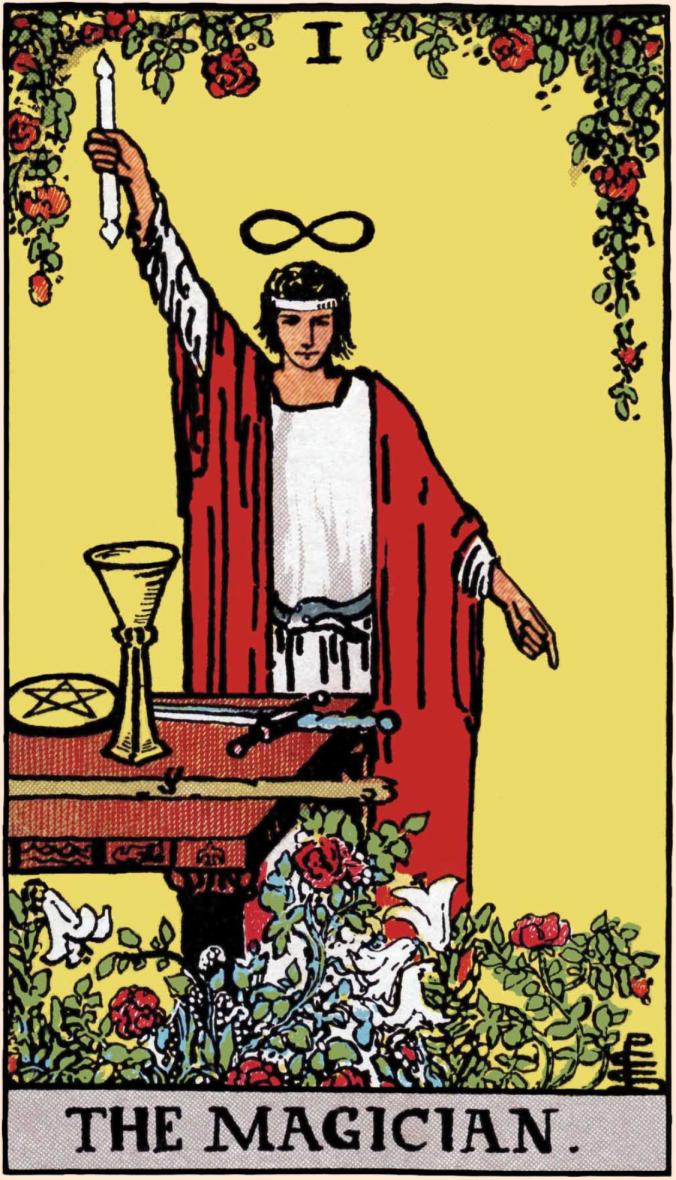 The magician tarot card, rider Waite tarot deck, traditional tarot deck, tarot for beginners, card reading for beginners, tarot basics,