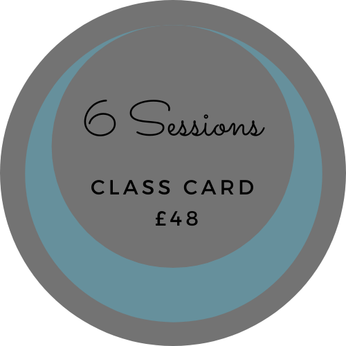 6 session class card