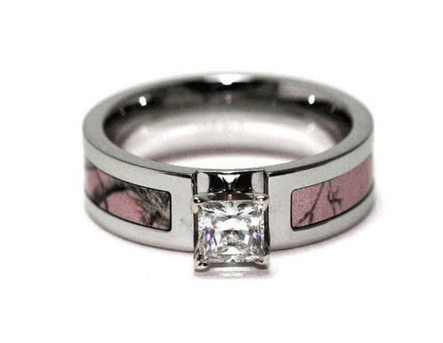 highly polished for a soft and comfortable fit we also have in stock a triple cross camouflage wedding band for him - Pink Camo Wedding Ring