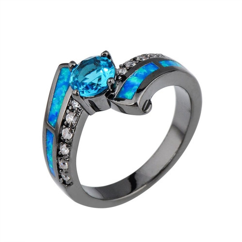 Black Gold Blue Opal Ring jrstradingcoOn line retailer of