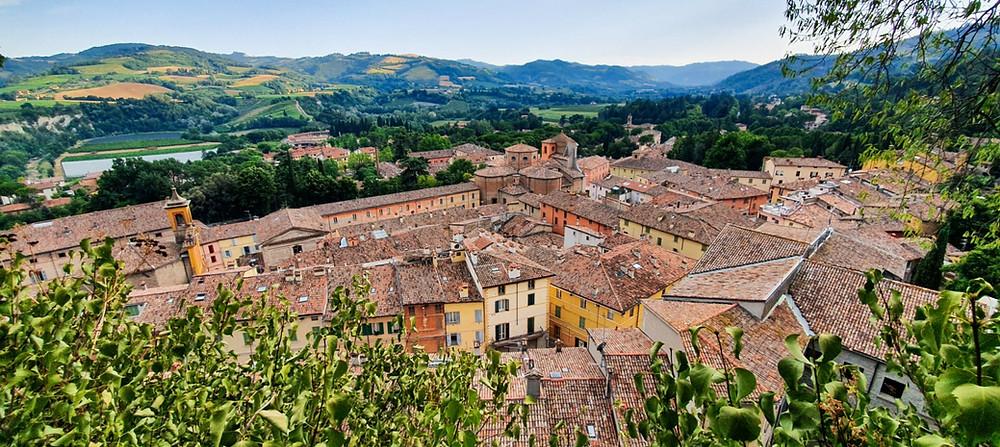 Blick auf die Altstadt von Brisighella