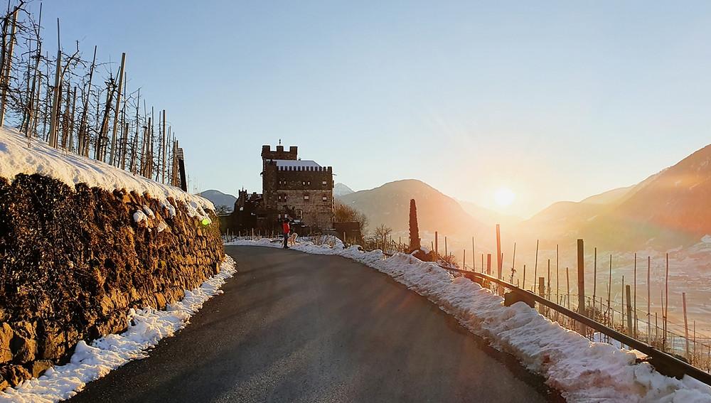 Burg Katzenstein mit Ausblick auf den Meraner Talkessel