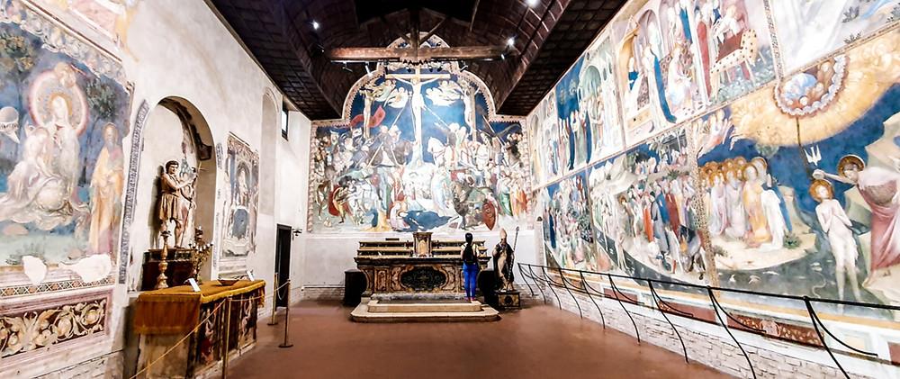 Der beeindruckende Freskenzyklus im Oratorium San Giovanni