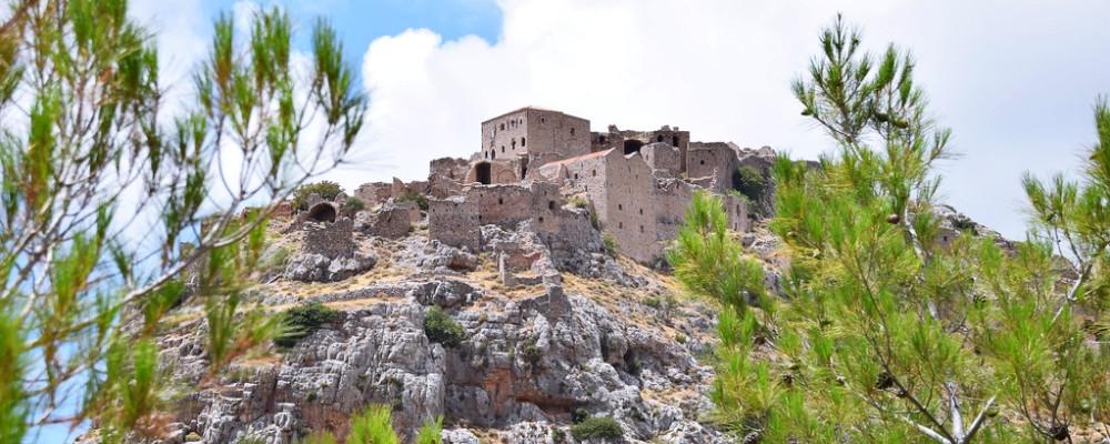 Blick auf die Ruinen von Anavatos