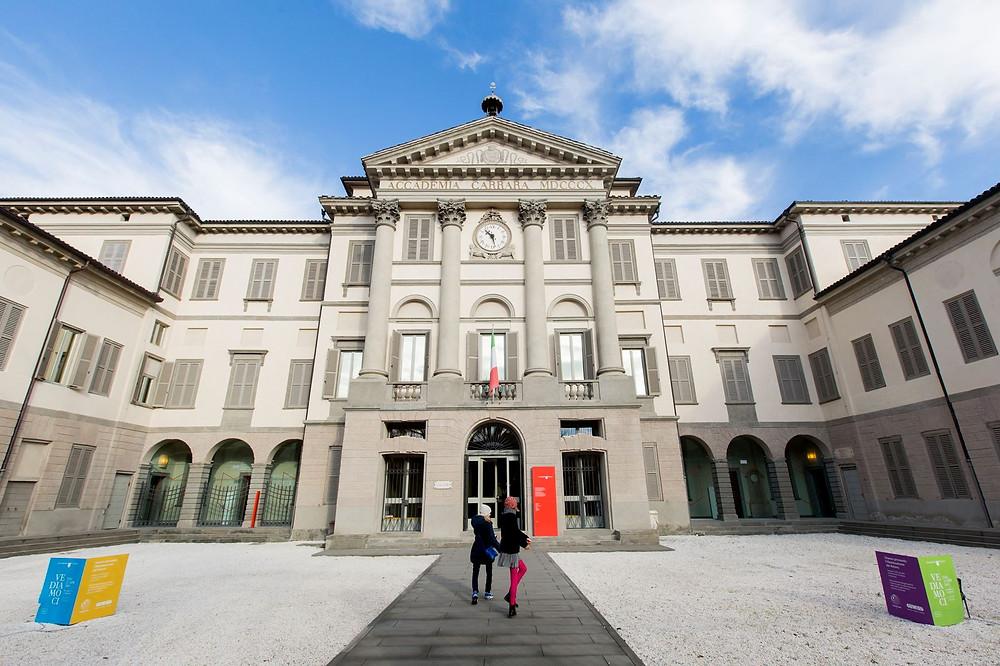 Die Kunsthochschule und Kunstgalerie Accademia Carrara in Bergamo