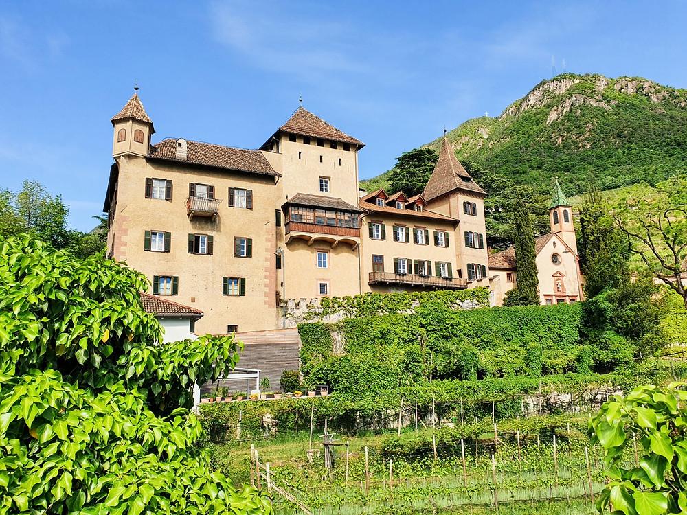 Schloss Klebenstein an der Talferpromenade in Bozen