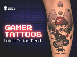 We need to talk about Gamer Tattoos. 2021s latest Tattoo Trend!
