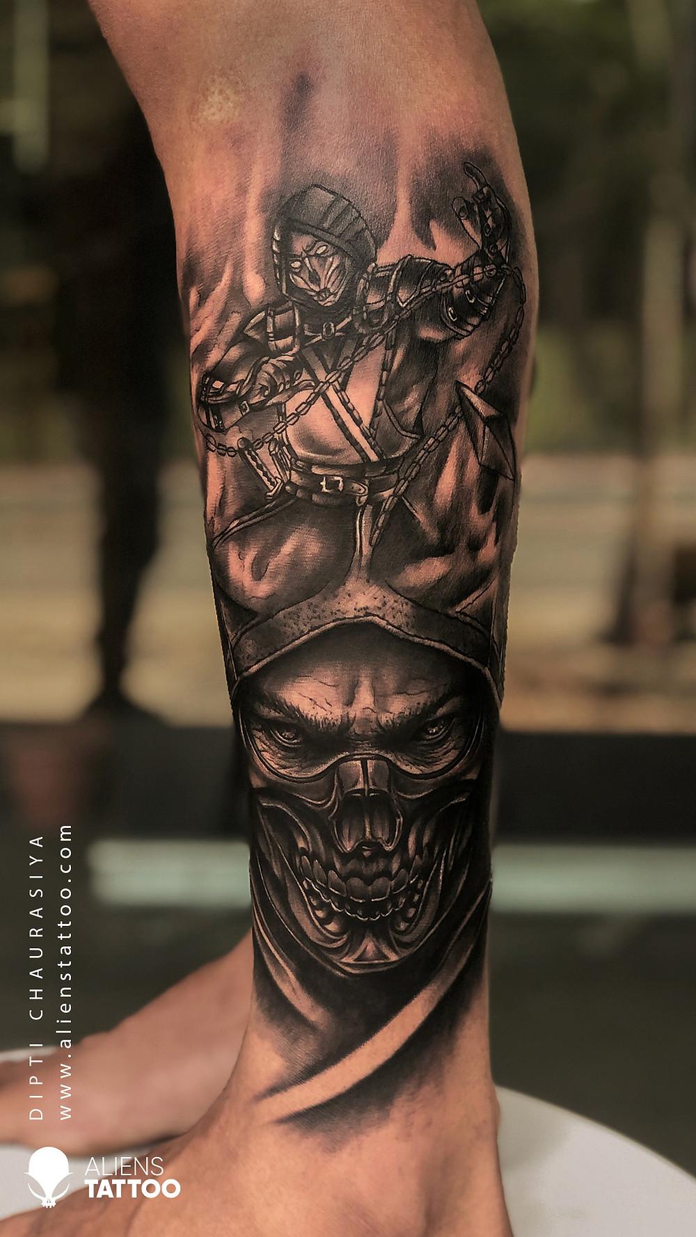 Tattoo Games : Mortal Kombat Tattoo On Arm