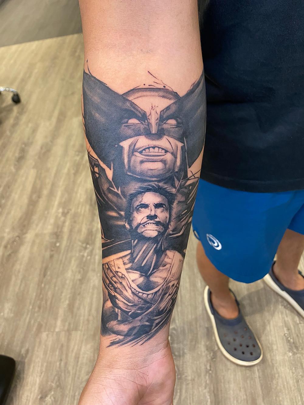 Tattoo Games : X-Men Origins: Wolverine On Arm