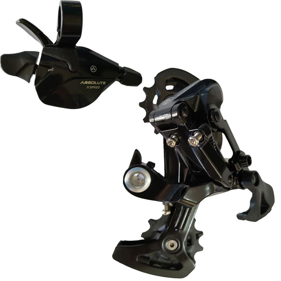 Alavanca e Câmbio Traseiro - Kit Transmissão Absolute Bike 11v