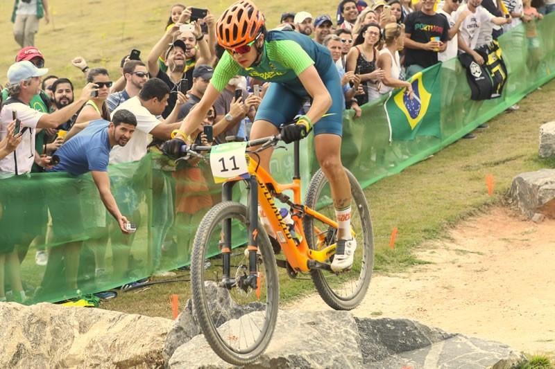 Raiza durante a prova em Deodoro | Marcelo Pereira/Exemplus/COB