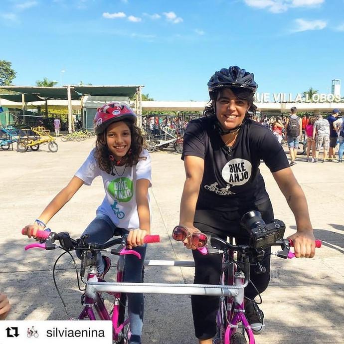 Conversamos com Silvia Ballan ( Cheguei de Bikee silviaenina.org) sobre a importância da bicicleta