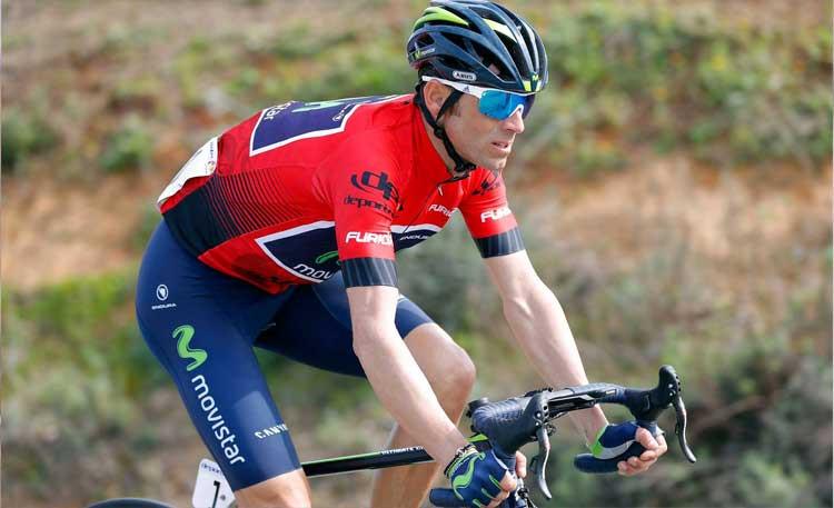 Valverde na quarta etapa da Volta a Andaluzia 2017 / Divulgação Movistar