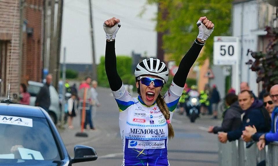 Polegatch durante a vitória em prova na Bélgica em 2018 (Foto: Arquivo pessoal)