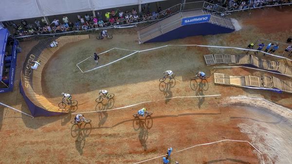 Vista aérea da pista do MTB Short Track (Fernando Siqueira / FS Fotografia)