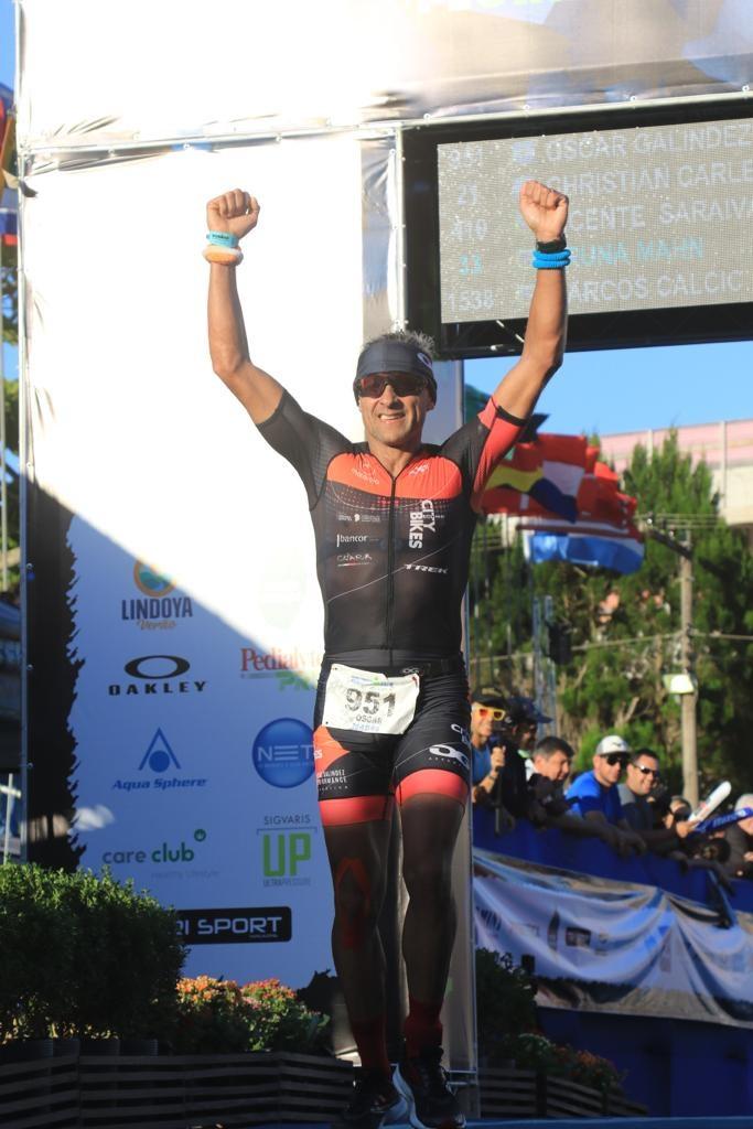 Ironman Brasil: Oscar Galindez garante vaga para Kona na Faixa Etária