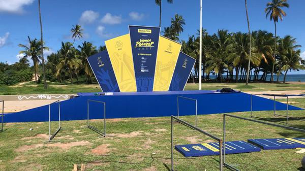 Montagem do evento em Salvador (Divulgação)
