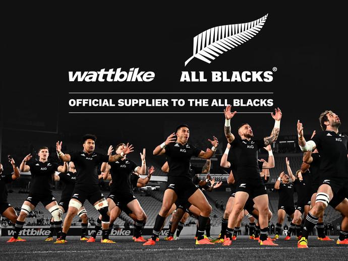 Wattbike se torna o fornecedor oficial dos All Blacks, tradicional seleção de Rugby da Nova Zelândia