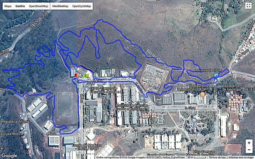 Percurso da CIMTB de Ouro Preto / Divulgação